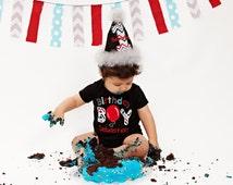 Birthday Boy Shirt...Balloon Birthday Boy...First Birthday Boy...Personalized Birthday Shirt
