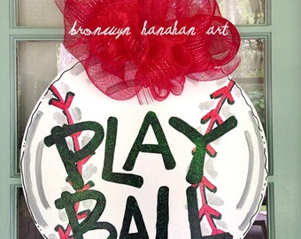 Play Ball Door Hanger - Bronwyn Hanahan Art