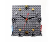 Star Wars Clock, Deluxe Model made from Star Wars LEGO (r) Pieces, Star Wars Imperial Clock