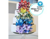 Wedding Cake Topper EDIBLE Butterflies for Wedding Cake Toppers- Ultimate Rainbow set of 75 -  Food Decoration - PRECUT and Ready to Use
