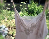 vintage slip dress - pale dusty rose - size 36