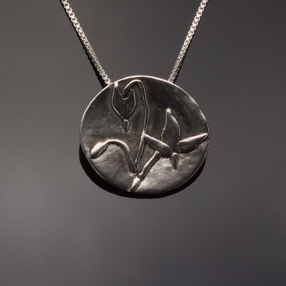 Silver Wildflower Pendant // Shooting Stars Necklace