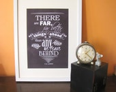 There Are Far Better Things Ahead C.S Lewis Chalkboard Style Quote A4 Size Art Poster Print