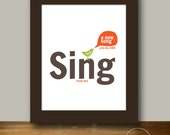 Sing a New Song - Christian Art Instant Printable 8x10