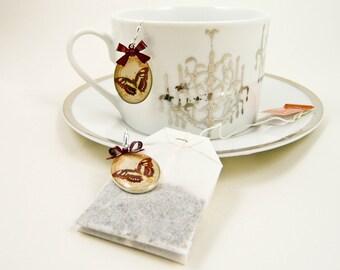 Merlot Butterfly Earrings