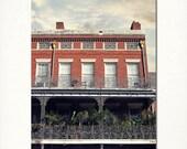 "New Orleans Architecture Photography French Quarter  ""Pontalba Balcony"" Print. Wrought Iron Balconies. 8x10, 11x14, 16x20, 20x24, 24x36"