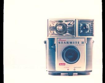 Brownie Starmite Photo - vintage camera decor, retro art print - The Starmite - color photography, home decor, blue, white, red, retro decor
