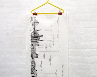 New York Skyline Tea Towel