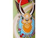 Hand Painted Skateboard for children jackalope nursery decor baby shower gift