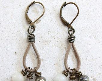 Kate - Leather Earrings/Bracelet