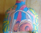 Organic Hemp Cushion - Heart and Lungs No 9