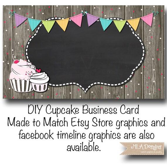 Cupcake Business Card Template Cupcake Confetti Fun Made - Cupcake business card template