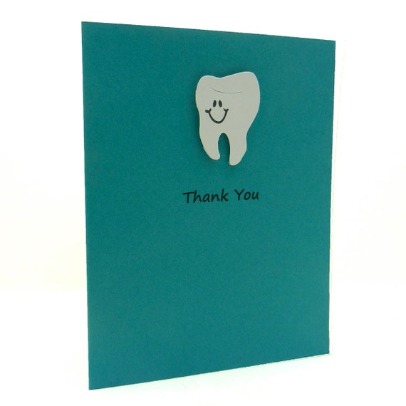 tooth thank you card dentist thank you teeth dentistry