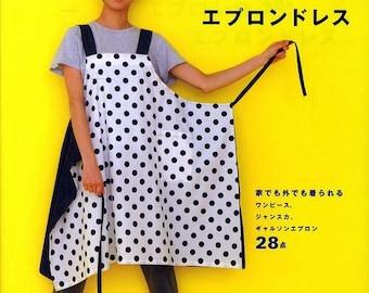 Apron & Apron Dress by Yoshiko Tsukiori - Straight Stitch Sewing - Japanese Pattern Book for Women Clothing - Easing Sewing Tutorial, B1299