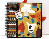 Dog Themed 6x6 Premade Mini Scrapbook Album