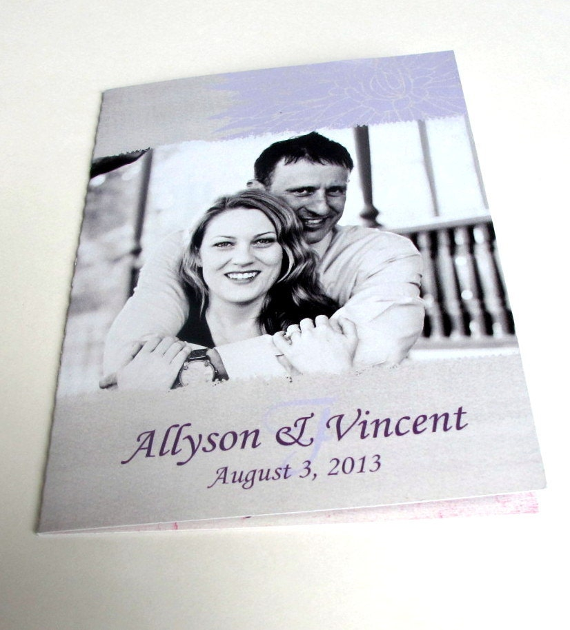 Grey Lilac Wedding Invitations With Perforated Reply Card