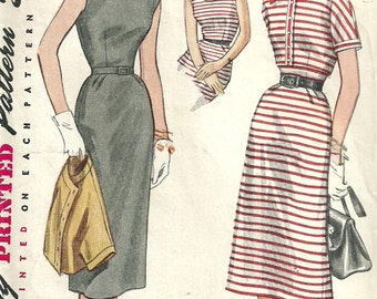 Simplicity 4189 / Vintage 50s Sewing Pattern / Dress Bolero Jacket / Size 16 Bust 34