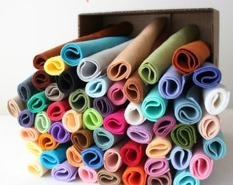 Merino Wool Blend Felt - You Choose 5 9x12 Sheets