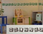 Vinyl Wall Lettering Decorative Alphabet Block Accent Border Kids Play Room 16 Feet Long