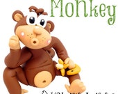 Polymer Clay MONKEY Tutorial - Also for Fondant, Sugar Paste, & More