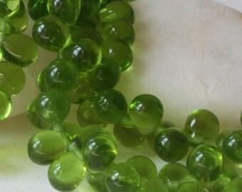 Czech Teardrop Beads - Jewelry Making Supplies - Craft Supplies - 6x8 Tear Drops (50 beads) Olive Green