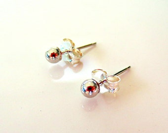 SALE! 20% OFF 14K White Gold 4mm Ball Stud Earrings