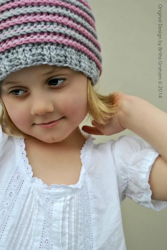Crochet hat pattern for girls and boys Ribbed Beanie crochet