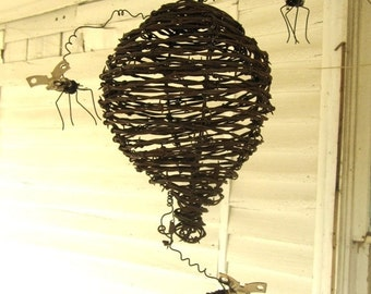Barbed Wire Wasp Nest With Can Openers Wasps Made to order
