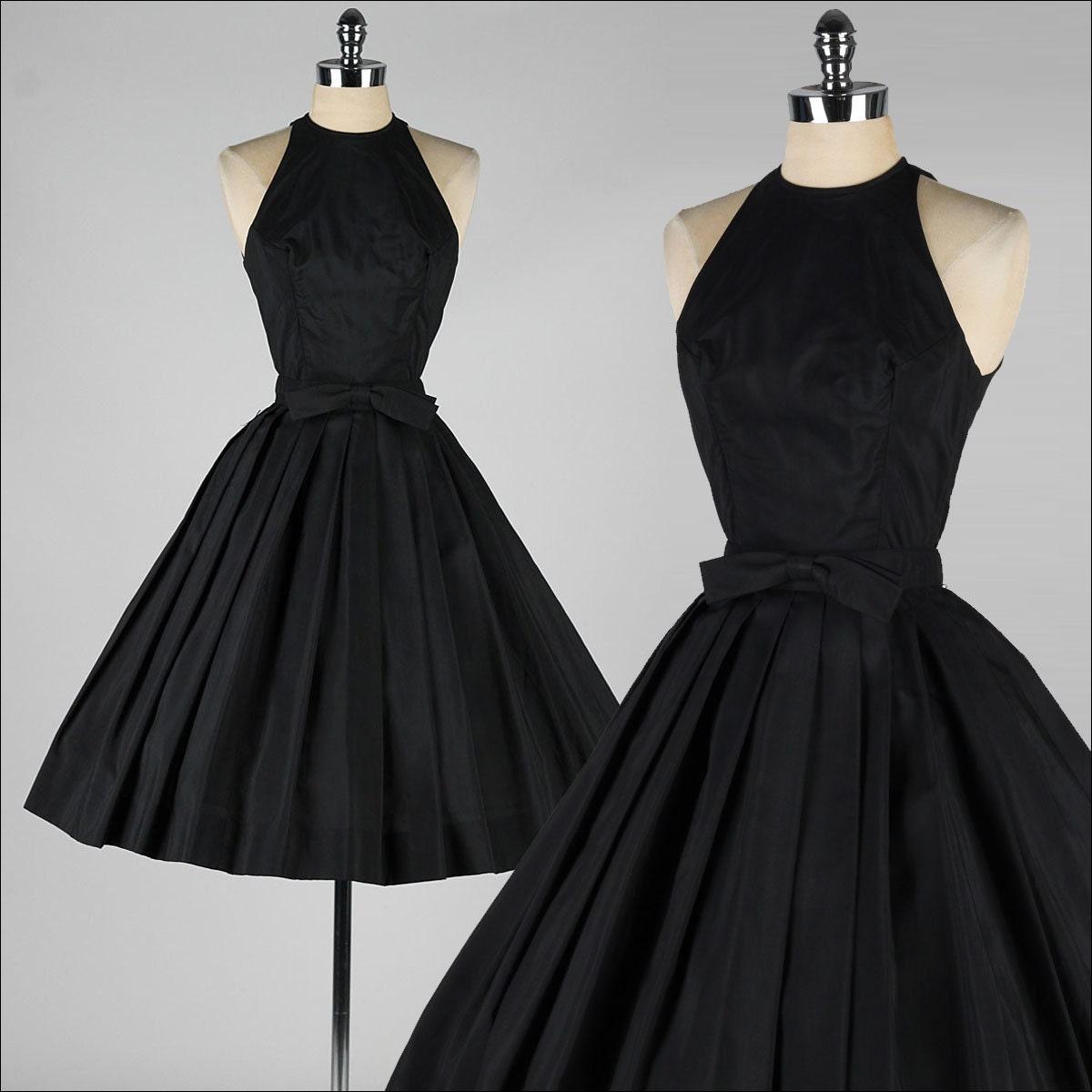 Vestido vintage de los a os cincuenta suzy perette halter - Los anos cincuenta ...