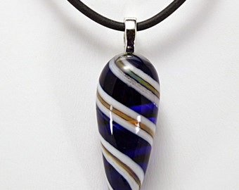 Lampwork Glass Pendant Necklace