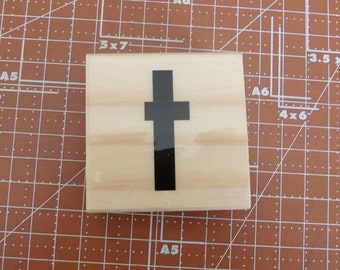 Lowercase T Rubber Stamp