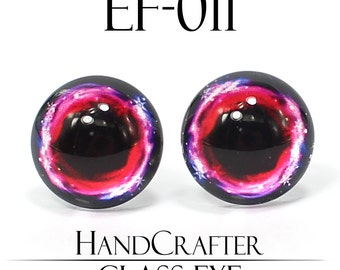 1 pairs - 12mm Handmade glass eyes Human Eyes Monster Eyes Glass Cabochons EF-011 NO WASHER