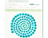 Kaisercraft Self Adhesive Rhinestones  100 Package 3 Sizes  AQUAMARINE  No. sb775  Crystal Gemstones