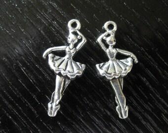Pewter Ballet Dancer Charms