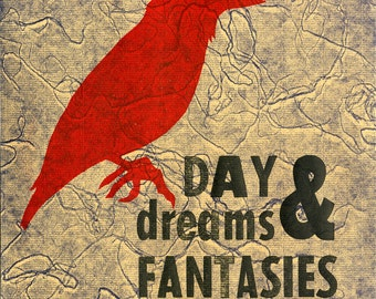 Daydreams & Fantasies Letterpress Bird Print