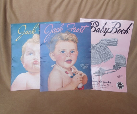 Vintage Baby Knitting Pattern Books : Vintage 40s Knit Pattern Books Baby Clothes by ...