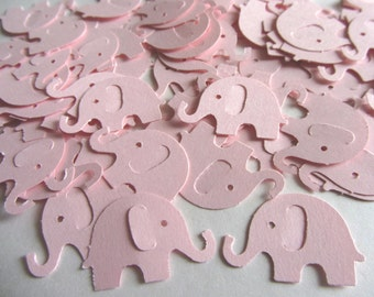 Pink Elephant Die Cuts - Table Confetti - Pink Baby Shower Decoration - Paper elephants - pink baby shower girl