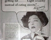 Funny,  Inappropriate Cigarette Ad Claiming Smoking to Lose Weight - for mixed media, wall art,