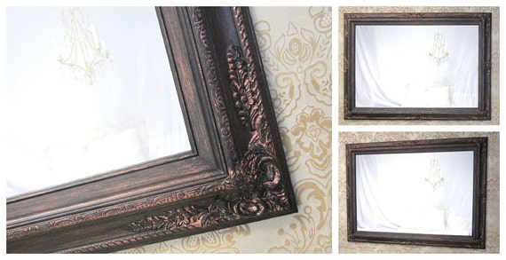 Large framed black mirror for sale baroque decorative ornate for Large decorative mirrors for sale