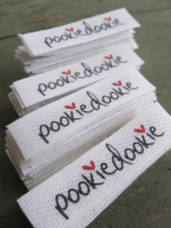 Twill Fabric Labels, half inch ribbon - cut and fray-checked - natural or white