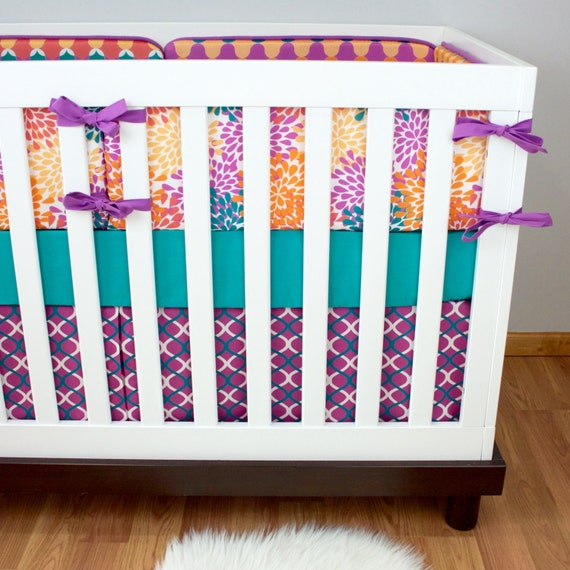 Moroccan Blooms Crib Bedding Baby Bedding Purple By