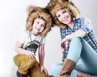 Buy 1get 1 FREE Teen Accessories Animal Teenagers Accessory Kids Teddy Bear Hat Winter - Babies Hats Faux Fur - Fleece Lining