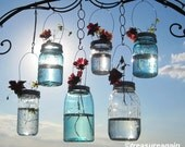 Hanging Mason Jar Vases Flower Frog LIDS, Mason Jar Wedding Decorations, DIY Lids Only - No Jars