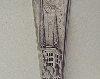 Vintage Spoon Radio Spoon Silver Spoon KFNF Radio Station Silver Plate Spoon