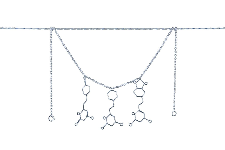 Kava Molecule Necklace - Kava Tea Chemistry Jewelry - Hawai'ian Awa Jewelry - Chemistry Necklace