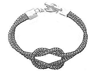 SilverSilk Smokey Love Knot Bracelet