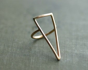Large Statement 14kt Gold Fill Triangle Ring - Made to Order