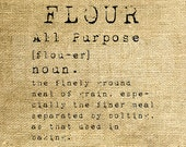 INSTANT DOWNLOAD - Flour Dictionary Definition - Download and Print - Image Transfer - Digital Collage Sheet by Room29 - Sheet no. 1204
