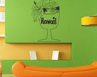 Vinyl Wall Art Decal Sticker Hawaiian Cup OSDC733s