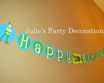 Peter Pan Birthday Banner